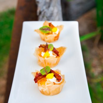 Goats cheese Canapes