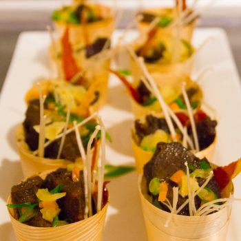 guiness braised beef canapes