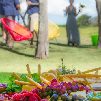 Grazing platter at beach wedding